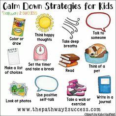 Calming strategies for kids Elementary Counseling, Counseling Activities, Therapy Activities, Social Activities, Anger Management Activities For Kids, Kindness Activities, Calming Activities, Play Therapy, Social Skills