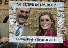 Spanish Royals visit Santa Eulalia de Oscos