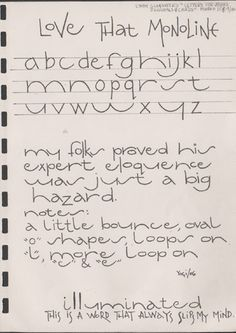 Exemplars for Lettering Journal March 2006 I dream of being able to write like… Alphabet Design, Hand Lettering Alphabet, Doodle Lettering, Creative Lettering, Handwritten Letters, Lettering Styles, Calligraphy Letters, Typography Letters, Brush Lettering