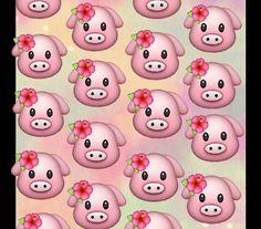 Tropical pigs wallpaper, emoji for phone