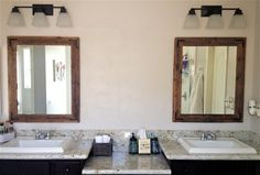 30x36 Bathroom Mirror Set  Reclaimed Wood  Framed by TheHoneyShack, $320.00