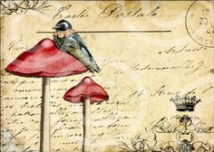 postcard - art journal inspiration. .