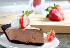 Chocolate-Strawberry Truffle PiefromChocolate Covered Katie