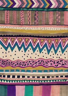 KOKO Art Print by Vasare Nar #aztec #navajo #tribal