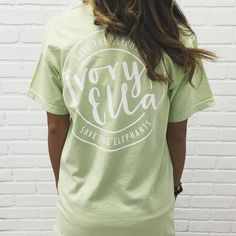 LIMITED EDITION ITEM Support the Save The Elephants organization in style in our limited edition Save The Elephants Print Tees... Cute, casual, and perfect for