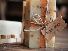 BEER SOAP with wooden soap dish Gift Set Made In The OZARKS. $7.65, via Etsy.