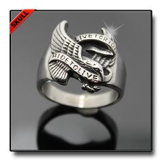 LIVE TO RIDE EAGLE RING