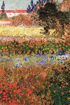 Flowering Garden, by Vincent van Gogh