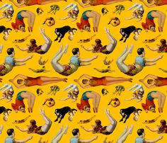 Acrobats fabric by Totallysevere on Spoonflower