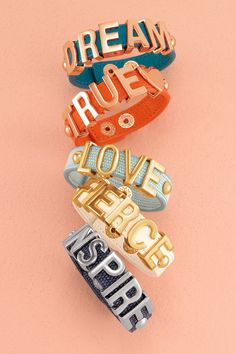 BCBGeneration Affirmation Bracelets  UGH these are AMAZING...i'm going to go out and buy as many as i an possibly find lol