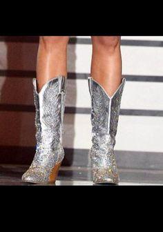 miranda lambert's boots - Women's Cowboy Bling Boot - Silver can't ...