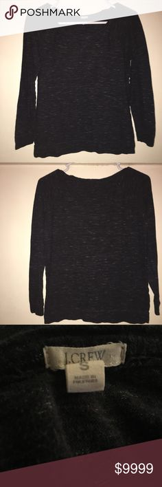 J. Crew Heather Gray Sweater Top J. Crew Heather Gray Sweater Top in size Small. 90% Cotton and 10% Wool. 10/10 condition! J. Crew Tops