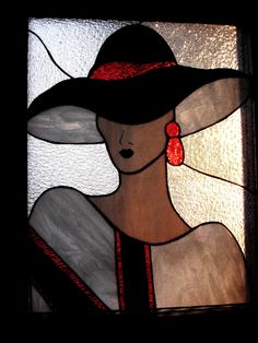 Stained glass lady