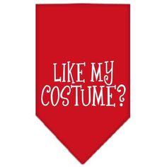 Like my costume? Screen Print Bandana Red Small