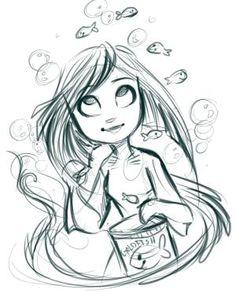 Female Pencil Draft #sketch #draft by sharene