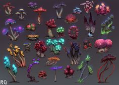 ArtStation - Goblins in Space - Mushrooms, Alex Konstad