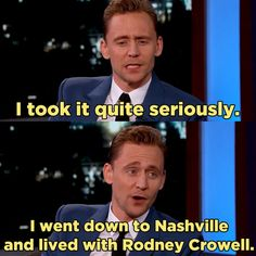 Tom Hiddleston Can Yodel Now