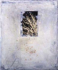 sadatsugu toboe, mixed media-04-2, photograph and oil on canvas, 61cm h x 50cm w, 2004
