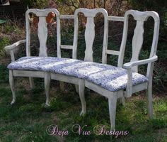5 country benches for your garden made out of old dining chairs