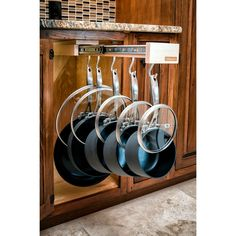 Glideware Pull-out Cabinet Organizer for Pots and Pans >>> Check this awesome image : home diy kitchen Kitchen Ikea, Diy Kitchen Storage, Kitchen Cabinet Organization, Kitchen And Bath, New Kitchen, Home Organization, Kitchen Decor, Kitchen Cabinets, Smart Kitchen