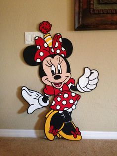 Minnie Mouse Balloon weight/holder prop or standee