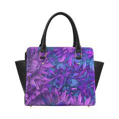 Purple Jungle Classic Shoulder Handbag (Model 1653)