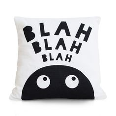 Based off the Papermint Studio 'Blah Blah Blah' print is this monochrome cushion cover.  Screen printed using water based i...