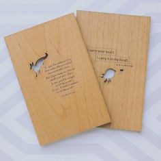 Wood Card The Fox from The Little Prince by cardtorial on Etsy, $10.00