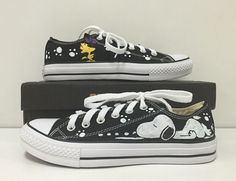 Hey, I found this really awesome Etsy listing at https://www.etsy.com/listing/242821350/snoopywoodstock-converse-shoesconverse