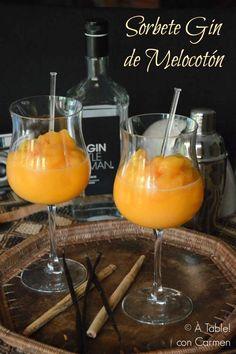 Sorbete Gin de Melocotón