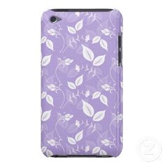 Lilac Floral with Leaves iPod Touch Case