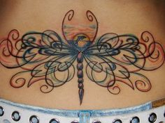 Dragonfly tattoos can hold deep symbolic value as a tattoo. Learn about dragonfly tattoos, dragonfly tattoo designs, dragonfly tattoo meanings, dragonfly tattoo ideas, and tattoo pictures. Tribal Back Tattoos, Girl Back Tattoos, Cute Girl Tattoos, Back Tattoos For Guys, Back Tattoo Women, Tattoo Girls, Lower Back Tattoos, Tattoos For Women, Bild Tattoos