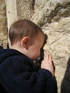 Beautiful-- Child at Wailing Wall.  LORD, protect these babies, children and all the people of Israel,  Defend and deliver all of Israel,  in The Name above all Names ~Yeshua.  Amen