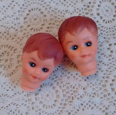2 Sweet Little Doll Heads Vintage Craft Supply, Toddler Boy or Short Hair Girl, Small Size Lot https://etsy.me/2pFmQR0 #supplies #plastic #head #vintage #craftsupply #dollmakingsupply #dollhead #babydoll #teamwwes #worldofetsy #forsale #shopsmall #etsyseller #etsyshop