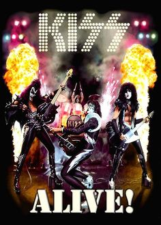 Era Animated Reproduction Stand-Up Display - Rock Band Music Collectibles Collection Memorabilia Gift Retro Record Kiss Album Covers, Rock Album Covers, Kiss Rock Bands, Kiss Band, Kiss Images, Kiss Pictures, Gene Simmons, Paul Stanley, Pochette Cd