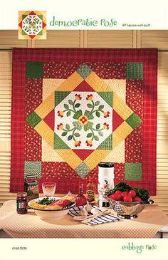 Democratic Rose Quilt - Printed Pattern