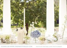 Table flowers - a variety of blooms and vases