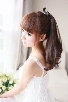 Amazon.co.jp: 耐熱ポイントウィッグ ポニーテール ウィッグ ロング(約42~45cm) 選べる4色: 服&ファッション小物
