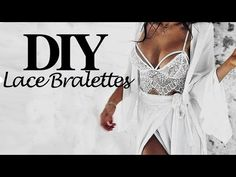 DIY | HOW TO MAKE A LACE BRALETTE/BRA (pattern available) - YouTube