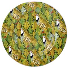 Birds & Leaves - Partridge On Leaves 8.5 inch Plate 2014