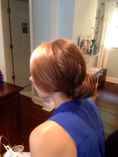 Wedding hair- chignon updo