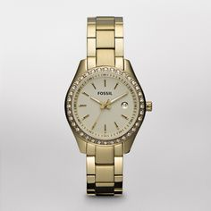 FOSSIL® Watch Styles Gold-Tone Watches:Women Stella Mini Stainless Steel Watch – Gold-Tone ES3107