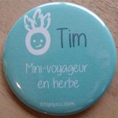 Badge personnalisé mini-voyageur
