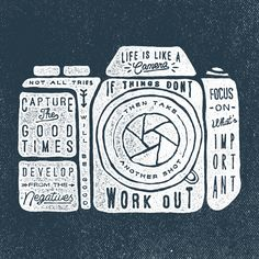 """Jul 2016 - """"Inspiring quotes make the world go around. See more ideas about Quotes about photography, Words and Wise words. Yearbook Shirts, Yearbook Class, Yearbook Design, Yearbook Ideas, Yearbook Theme, Camera Quotes, Quotes About Photography, Photography Humor, Photography Shirt"""
