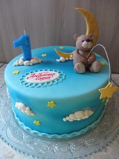 (99) Одноклассники Teddy Bear Cakes, Bear Party, Pastry Cake, Cute Cakes, Baby Shower Cakes, Cake Designs, Fondant, Cake Decorating, Birthday Cake