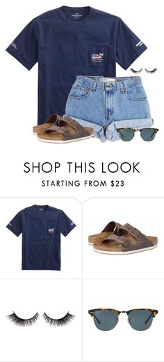 """""""RTD FOR SOMETHING CRAZY!"""" by flroasburn ❤ liked on Polyvore featuring Levi's, Birkenstock and Ray-Ban"""