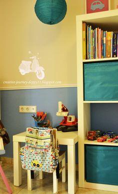 kid desk! Kid Desk, Kids Room, Bookcase, Shelves, Creative, Home Decor, Room Kids, Shelving, Decoration Home