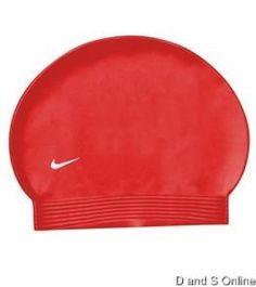 NIKE LATEX SWIM CAP NEW VARSITY RED LATEX