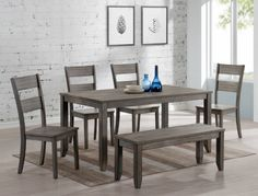 a0139bce2b Crown Mark 6PC Sean Collection 1131 Dining Set   Savvy Discount Furniture  Contemporary Dining Sets,