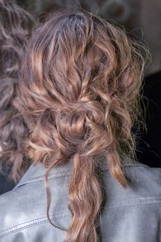wavy messy up-do.